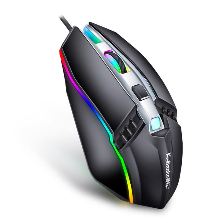Wired Mouse Gamer LED Light 4 Button 1000DPI Optical Usb Ergonomic Pro Gamer Gaming Mouse For Laptop Mice