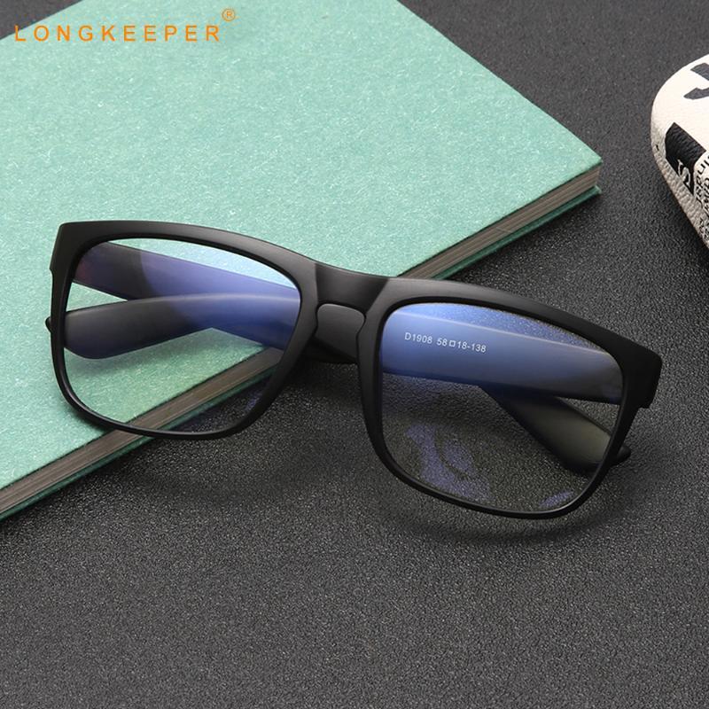 2020 Yeni Anti Mavi Işık Gözlük Erkekler Klasik Kare Bilgisayar Gözlükler Optik Çerçeve Kadınlar Şeffaf Anti-UV Gözlük UV400