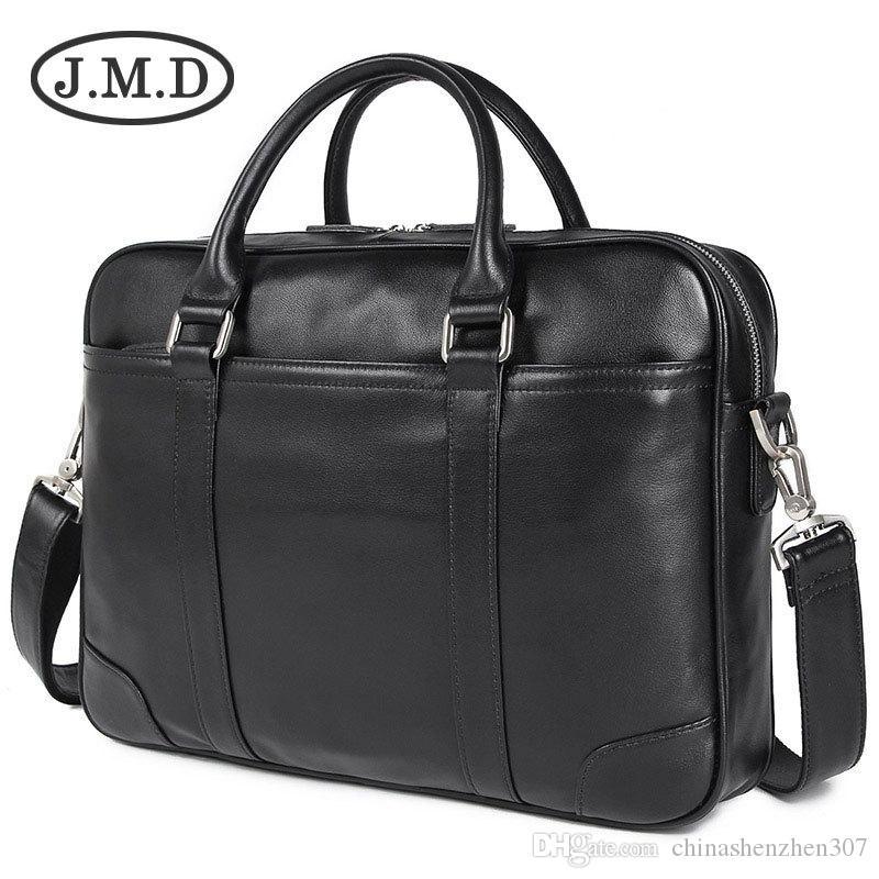Genuine Leather Laptop Bag Top Handle Bag Men's Handbag For Buisness 7349