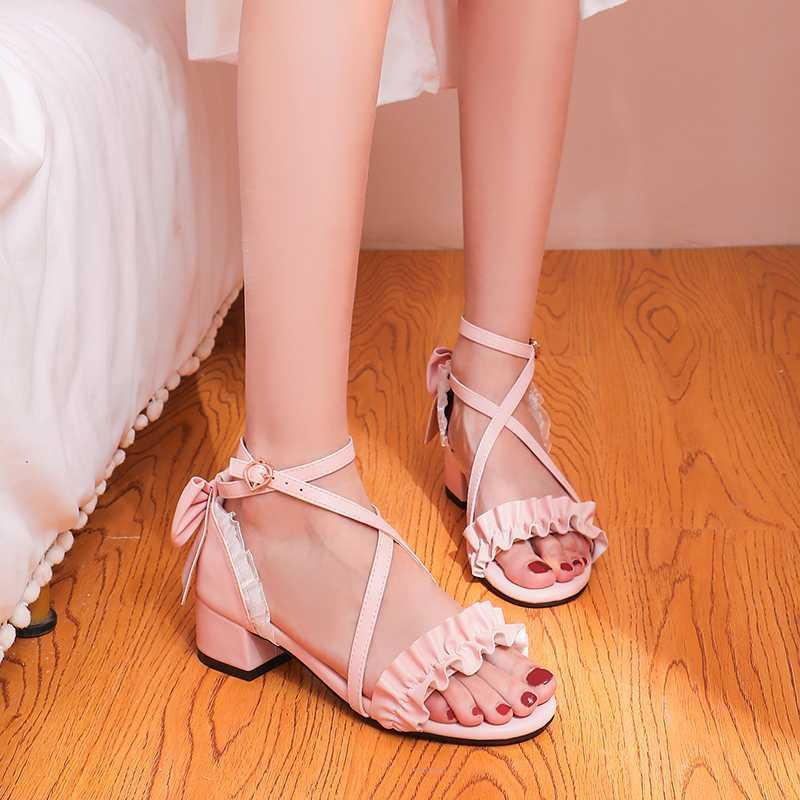 2020 Lace Bow Women Sandals Summer
