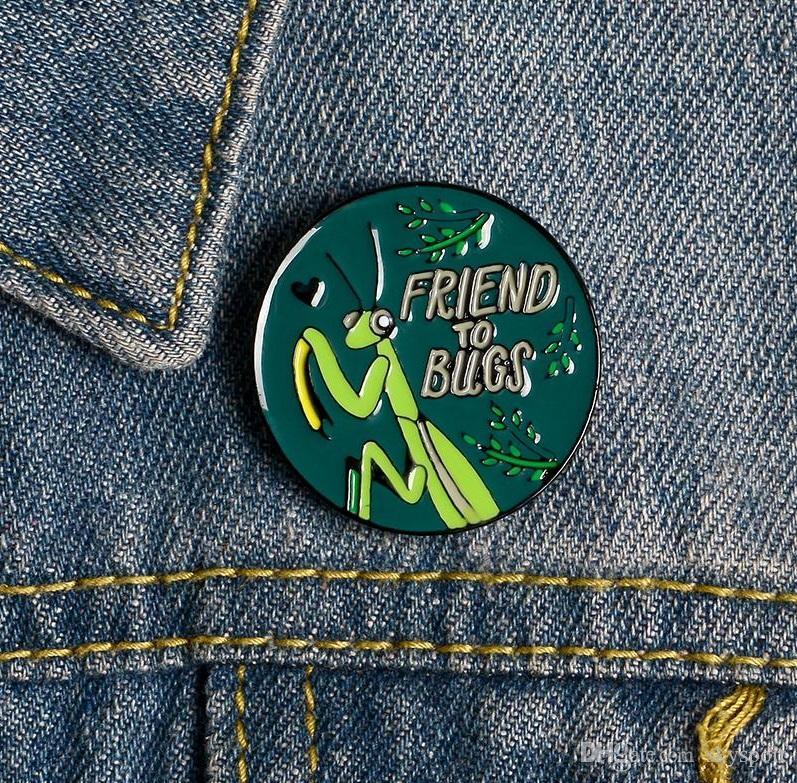 Broche insectes AMI BOGUES Pins Enfantin Bouton Badge Boucle Denim Vêtements Sac Pin Bijoux cadeau pour les amis zdl0213.