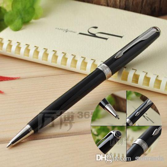 Ücretsiz Kargo Parker Sonnet Tükenmez Kalem Mat Siyah Kalemler Okulu Büro Tedarikçiler Dolum 0.7mm İmza Tükenmez Kalem Kırtasiye Hediye