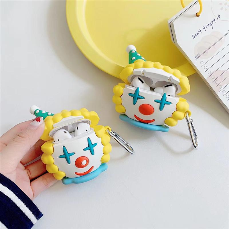 2020 For Airpods Pro Case 3d Cute Cartoon Clown Protective