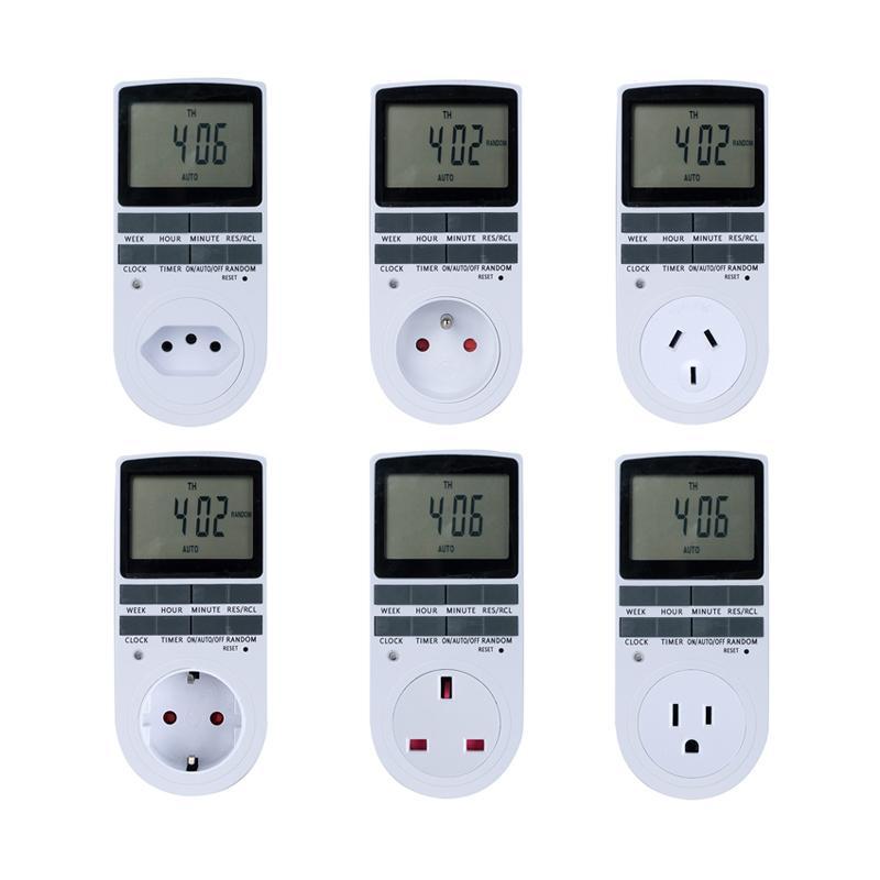 Electronic Digital Timer Switch 24 Hour Cyclic EU UK AU US FR BR Plug Kitchen Timer Outlet Programmable Timing Socket 220V