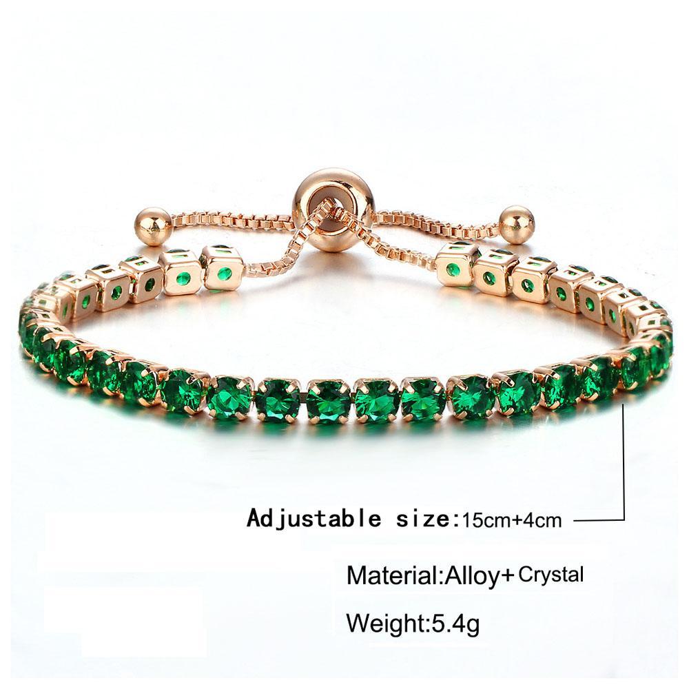 Tennis Bracelet for Men Women Cubic Zirconia Charm Iced Out Bracelet & Bangle Gold Silver Color Women Bridal Wedding Jewelry