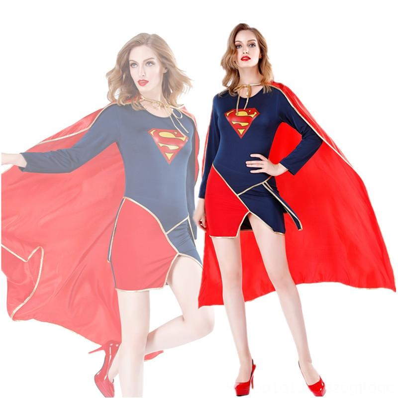 New Sexy Costumes Costumes & Cosplay adult female Superman cape tights animation film and television performance clothes sexy Superman role