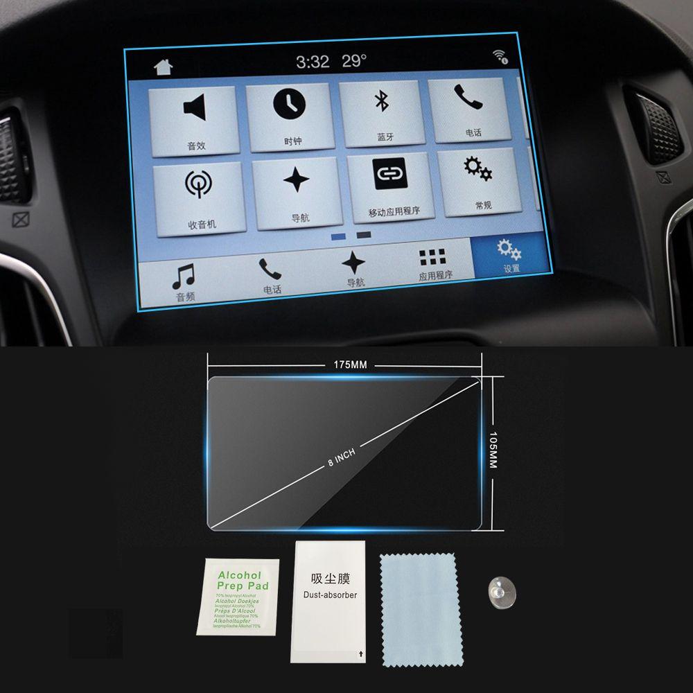 Pour Ford Focus 2011-2018 GPS Navigation Voiture Auto Moniteur écran de protection en verre trempé Film 8 INCH Sticker intérieur Accessoires