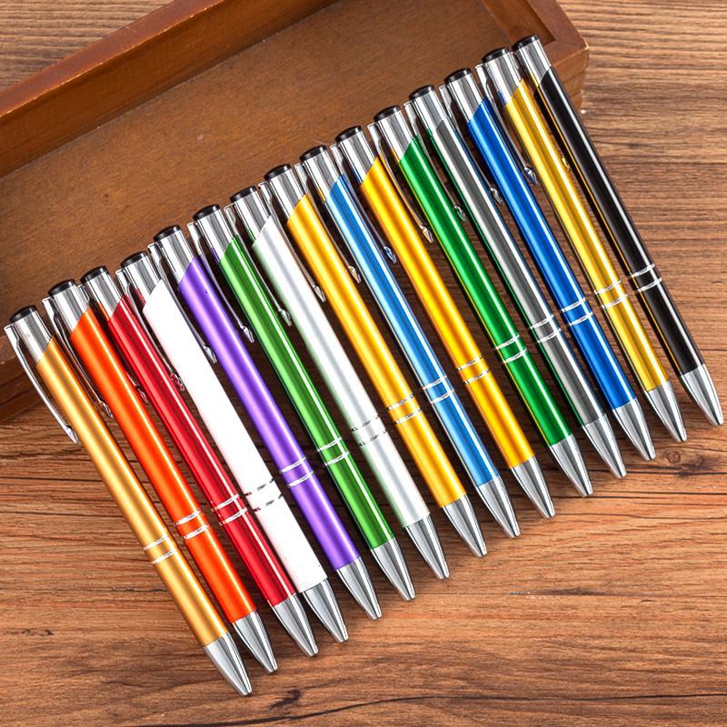 100 pcs / lot Stylos à bille Papeterie Ballpen Caneta Bureau Nouveauté cadeau Zakka Matériel fournitures scolaires Can sur mesure