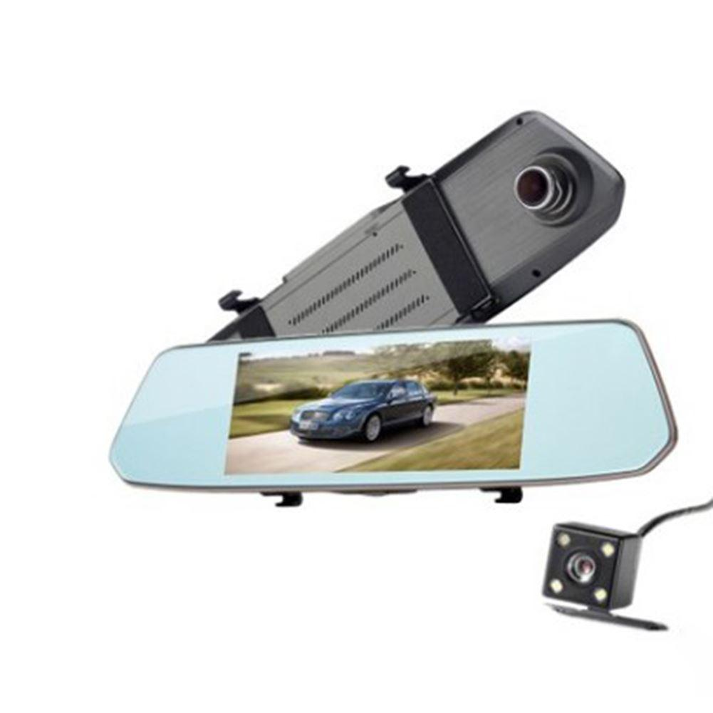 Car Dvr Car Accessories 7 Inch High Definition Touch Screen L1007 Rear View  Mirror Travel Recorder Track Offset Reverse Image Recorders Dash Car