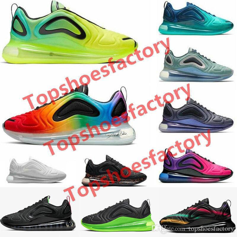 Nike air max  720 airmax 720 del mar Bosque Azul No es válido Triple Negro Blanco Volt Hombres Mujeres Espíritu deportes al aire libre las zapatillas de deporte 36-45
