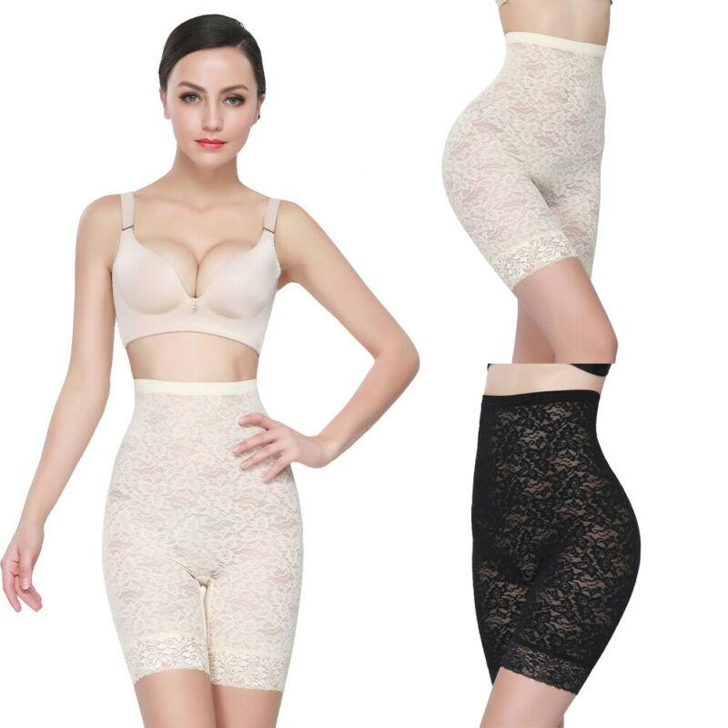 Womens High Waist Shapewear Lace Panty Slim Tummy Underwear For Body Shaping
