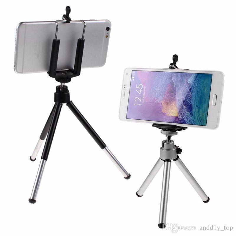Universal Mini 360 Full Metal Rotating Extendable Mini Tripod Stand Holder For Camera Iphone 8 X Samsung S8 Mobile Cell Phone