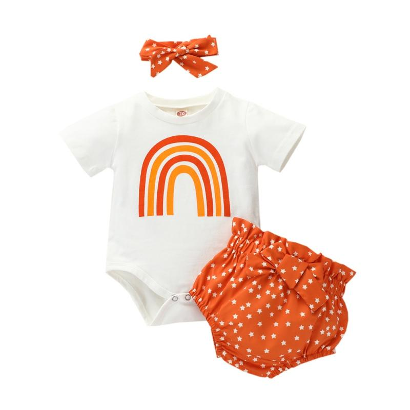 Newborn Infant Baby Girl Romper Tops Polka Dot Shorts 2Pcs Set Outfit Clothes 0-24M Summer Infant clothes baby girls set