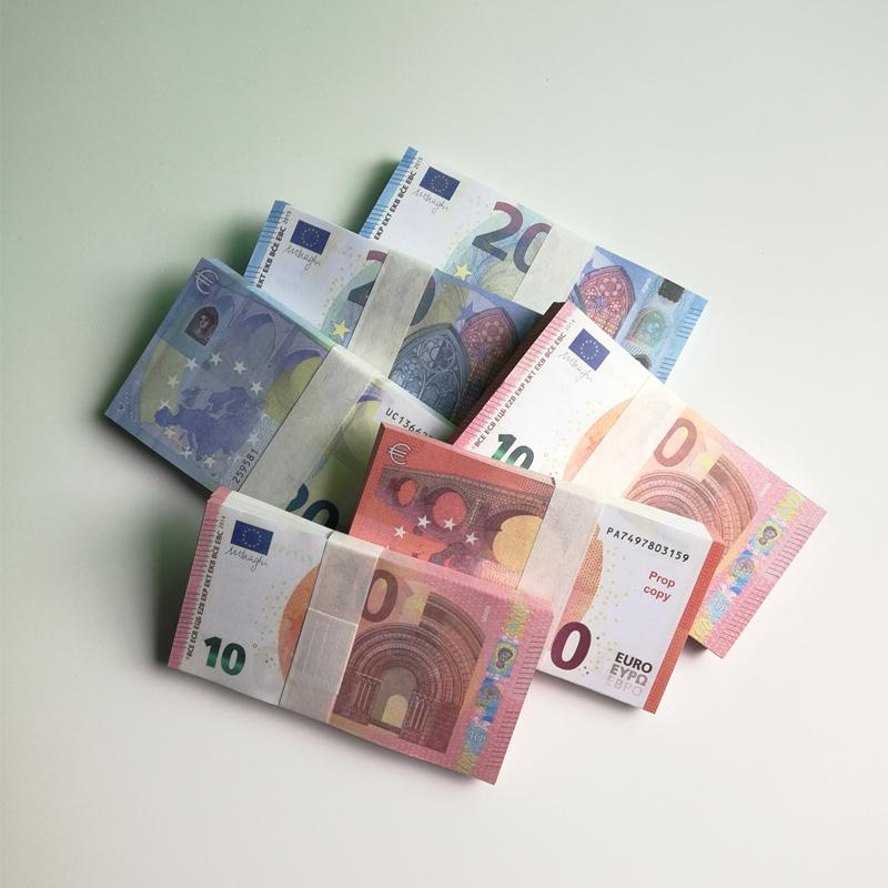 Yeni 10 20 50 100 Euro sahte para sahte Film parayı kütük Euro 20 oyun Toplama ve Hediyeler stokların