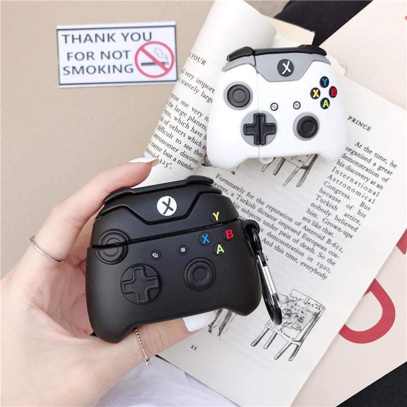 Para Airpods 1 2 Airpod Pro Novo Controlador de Jogos Design Branco Black Case para Airpods Caso Sem Fio Bluetooth Headset para AirPods 1 2 3