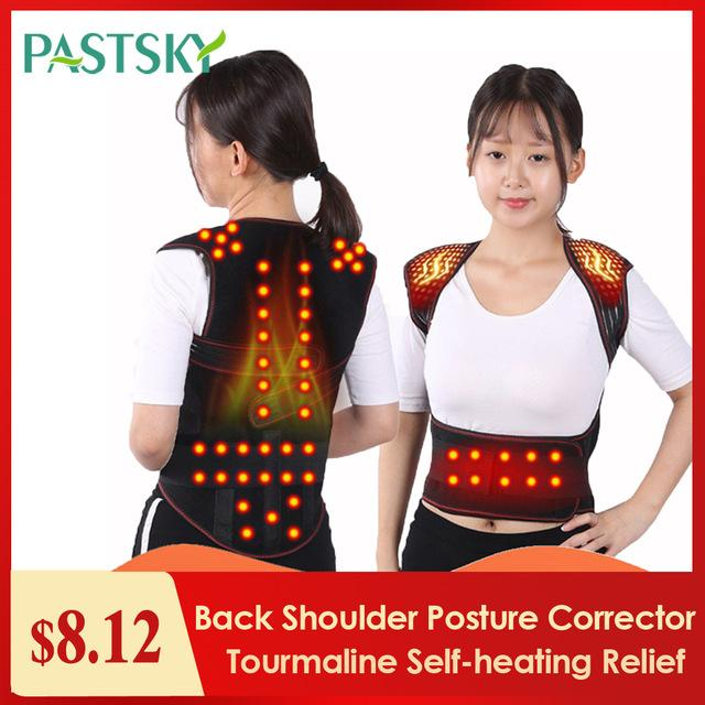 eauty & Health Tourmaline Self-heating Magnetic Therapy Waist Back Shoulder Posture Corrector Spine Lumbar Brace Back Support Belt Pain R...