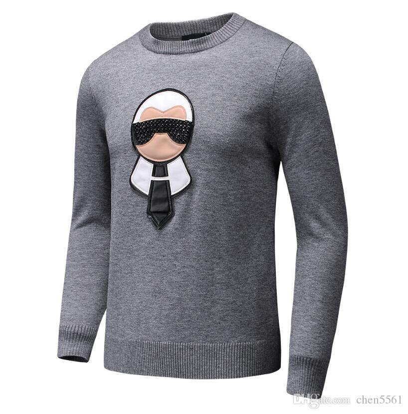 2020Autumn Winter Black Sweaters Men Fashion Long Sleeve Letter Print Couple Sweaters Loose Pullover Designer Set head Sweaters men pullover