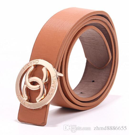 H Metal Steel Belt For Buckle Brown Black Leather For Men /& Women Gold
