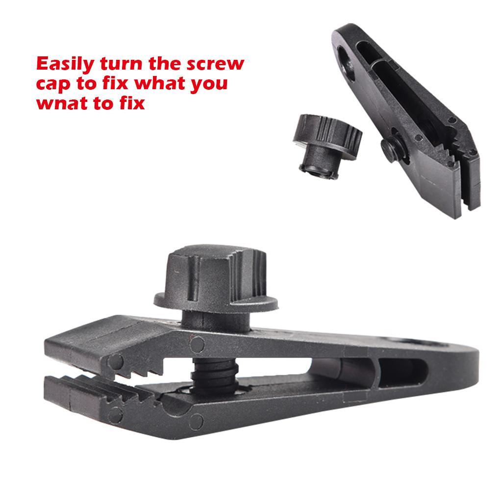 10pcs Tarp Clips Heavy Duty-Qualitäts-Durable Premium-Lock-Grip Vorzelt Clamp für Überdachungen Camping Tarps Zelt Locking