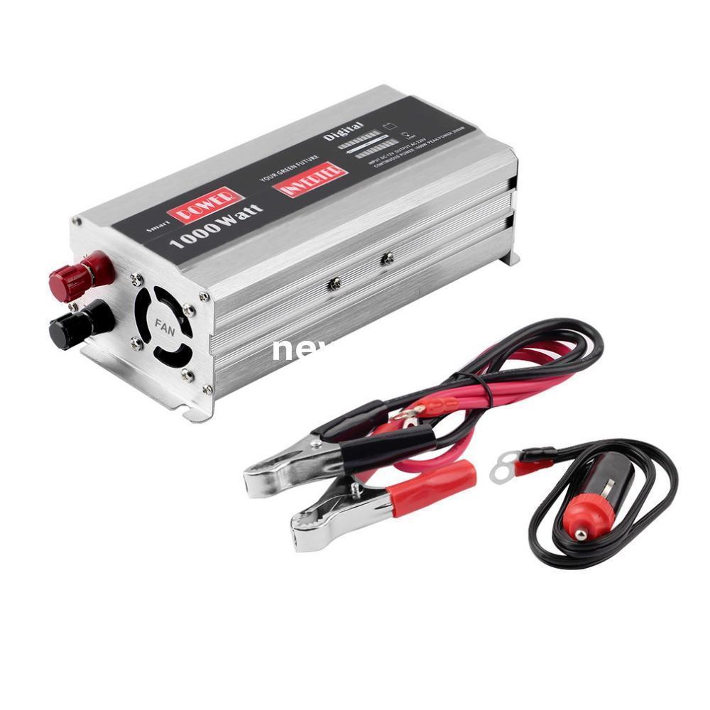 Freeshipping 1pc PD Car Power Inverter 1000 Watt Converter Soft Start USB Portable Car Charger Hot Worldwide