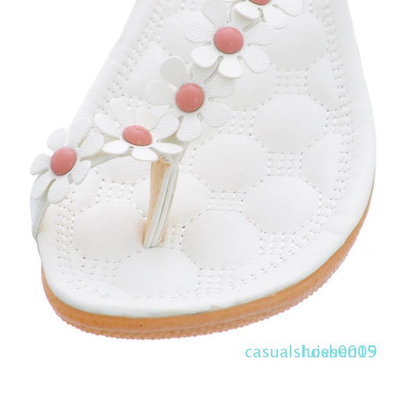 2020 nuovi pattini Boemia Donna Sandali estate di stile peep toe di fiori scarpe piane Donna Infradito L15