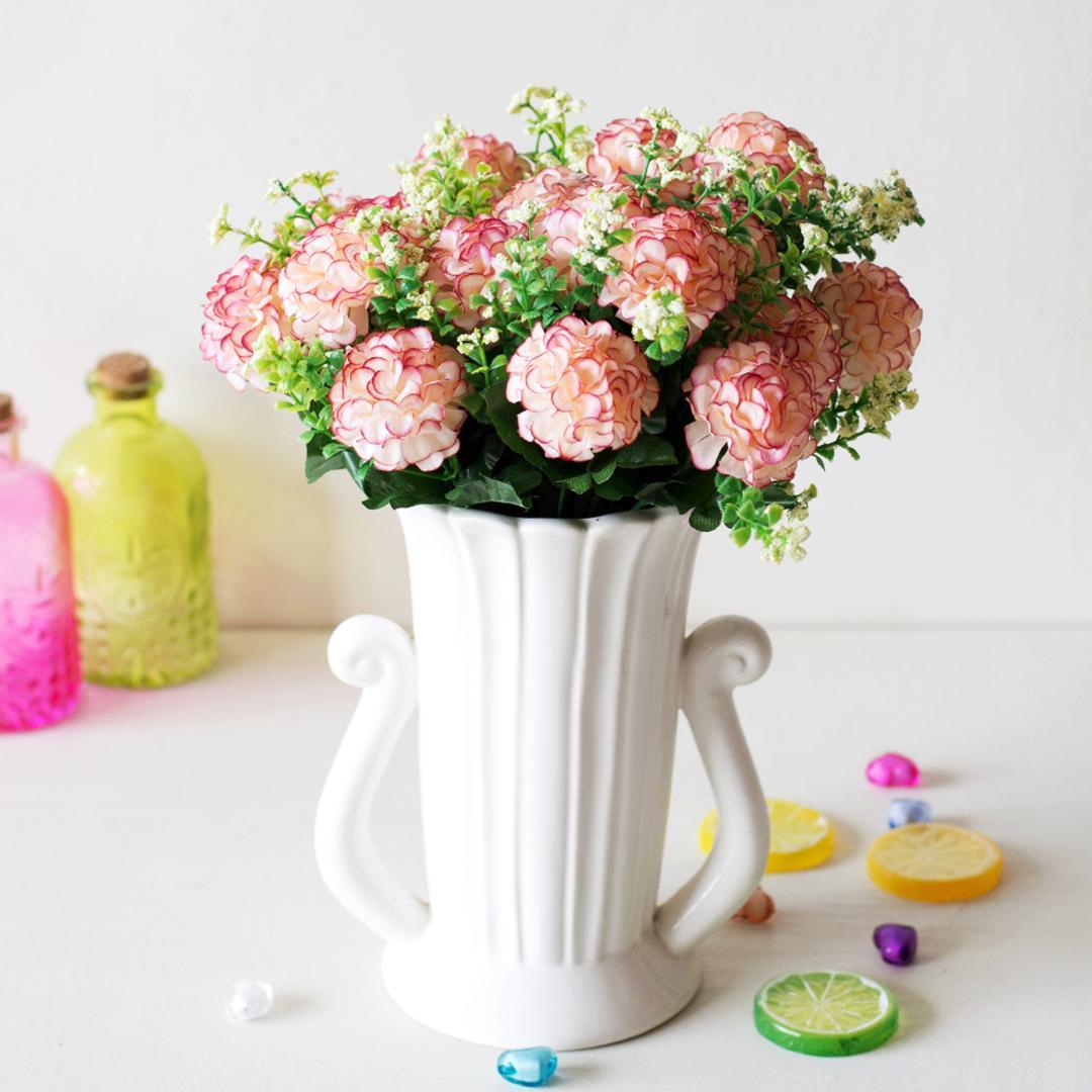 1 Bouquet 29cm Artificial Simulation ball Chrysanthemum Small bunch DIY Wedding Bridal Bouquet Home Table Decor Fake Flower