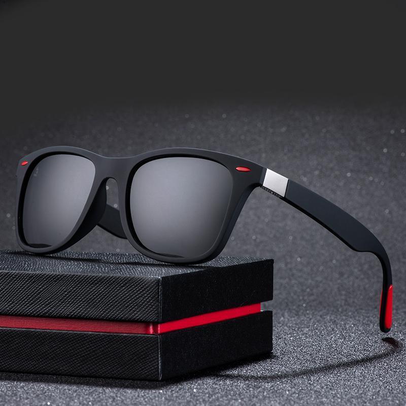 ZXWLYXGX Classic Polarized Sunglasses Men Women Brand Design Driving Square Frame Sun Glasses Male Goggle UV400 Gafas De Sol