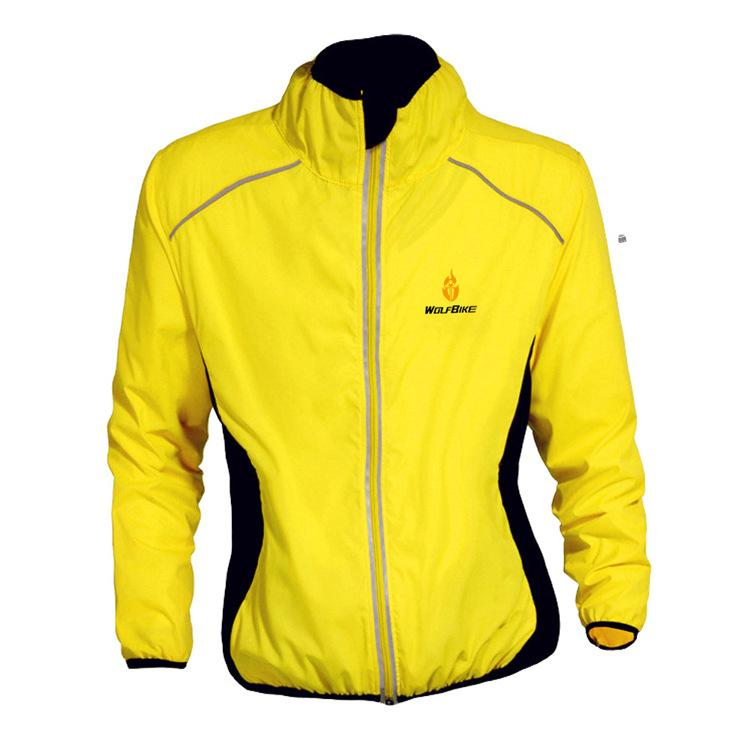 Yellow Running Cycling Riding Motorcycles High Visibility Reflective Jacket Long Sleeve MOTO Off-Road Warning Vest Protection Gear Wind Coat