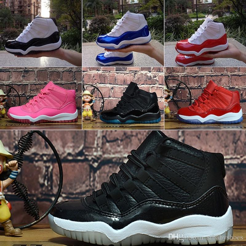 Sale Womens 11 Jumpman XI basketball shoes J11 Wool Midnight Navy Legend Blue Space Jam 45 11s sneakers for youth kids boys girls