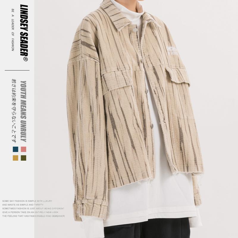 Kadınlar Erkekler İlkbahar 2020 Erkek Hip Hop Ceket Streetwear Koyu Stil Gevşek Bombacı Ceket Harajuku Japon Kısa Coat
