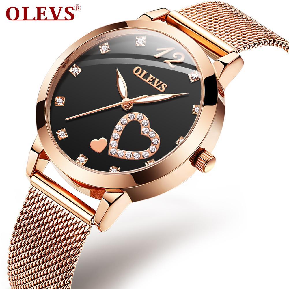 OLEVS 2020New Swiss 2020 auténtica marca impermeable tendencia simple temperamento reloj femenino estudiantes instagram estilo reloj de cuarzo femenino