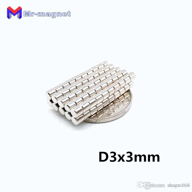 50pcs 3 x 3 mm ímã Disco aglomerado de NdFeB Ensino ímã D3 * 3 super forte rara 3x3 terra ímãs de neodímio D3x3 mm 3 * 3 imanes ímã