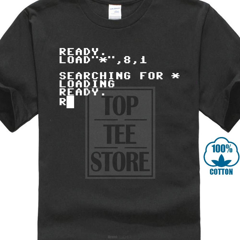 Commodore 64 Chargement Prêt Ordinateur T Shirt Cadeau Blague Geek Vente En Gros à Rabais Culture Rétro Ancien Discount 2019 Nouvelle Mode T-shirt Hommes