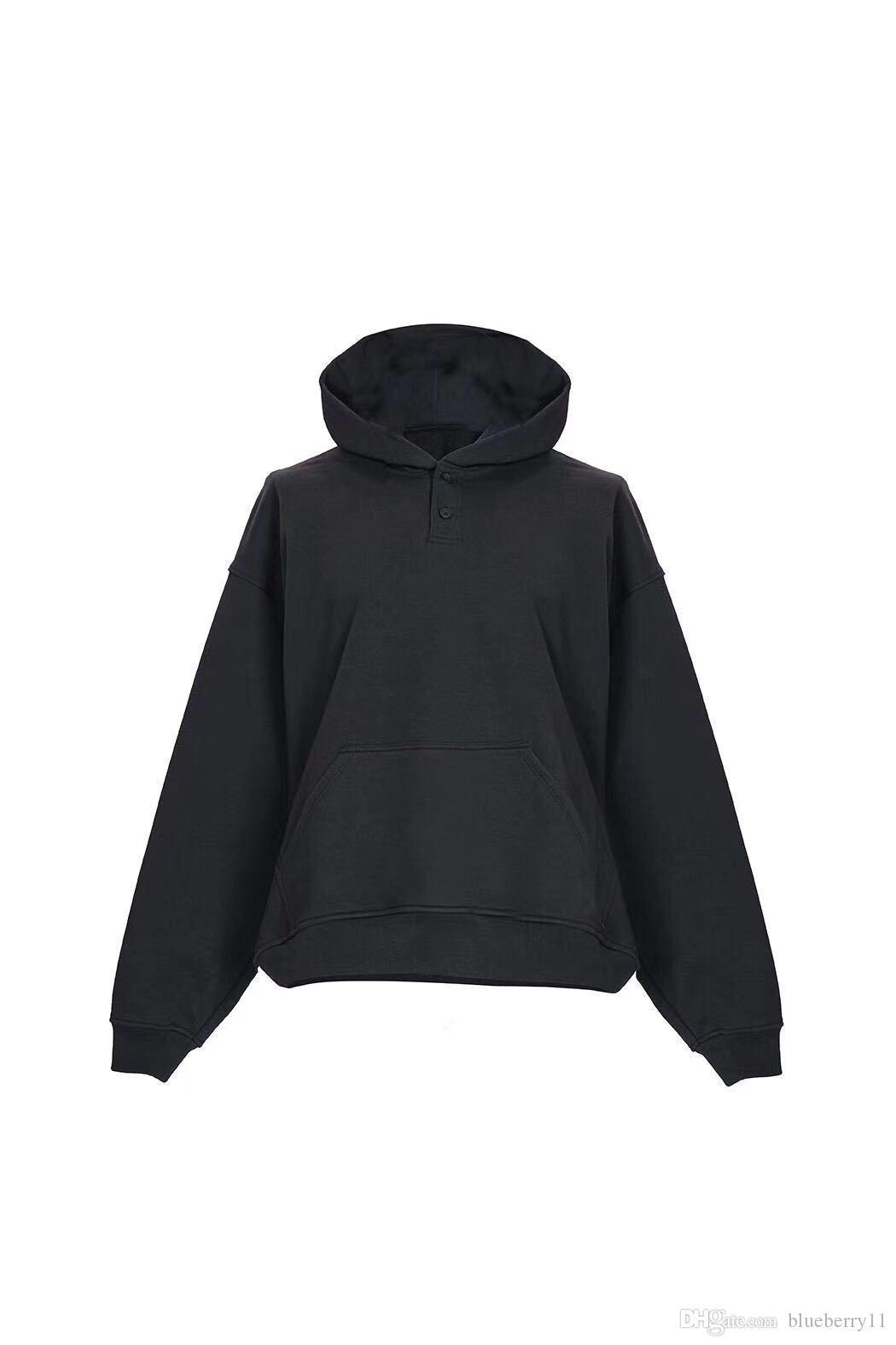 Herren Sweater Hoodie Herbst und Winter Langarm Hip Hop Street Lustiges Sweatshirt Lässiger Wind Schwarz Grau XS-L