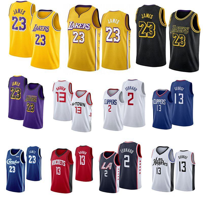 2020 NCAA رجل ليبرون جيمس 23 جيرسي جيمس هاردن 13 2 ليونارد بول 13 جورج كلية كرة السلة الفانيلة