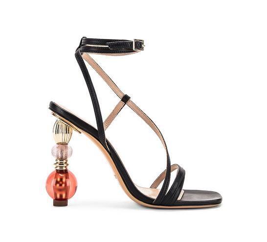 Scarpe Hot Genuine Leather Vendita-19Perfect Ufficiale sandali in nero Nuove uscite Fashion Catwalk sexy
