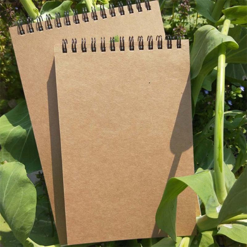 Notebook Retro Antiquity Kraft Paper Portable Sketchbook Graffiti Upturn Coil Creative Idea Popular Notepad Factory Direct Selling 2 8jc p1