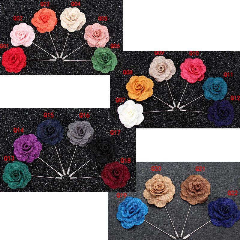 1Pc Lapel Flower Daisy Handmade Boutonniere Stick Brooch Pin Men/'s Accessories