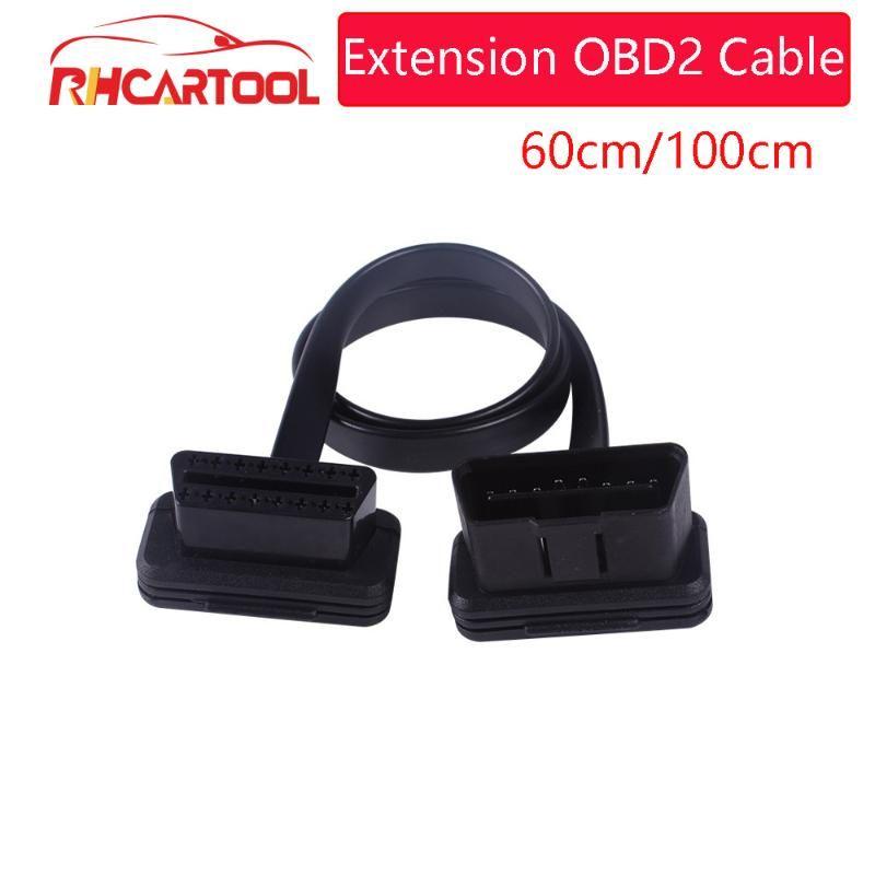 OBD II Teşhis Aracı için 1000pcs Teşhis Kablo OBD2 Uzatma OBD2 Kablo 16pin Erkek için 16pin Erkek Konnektör