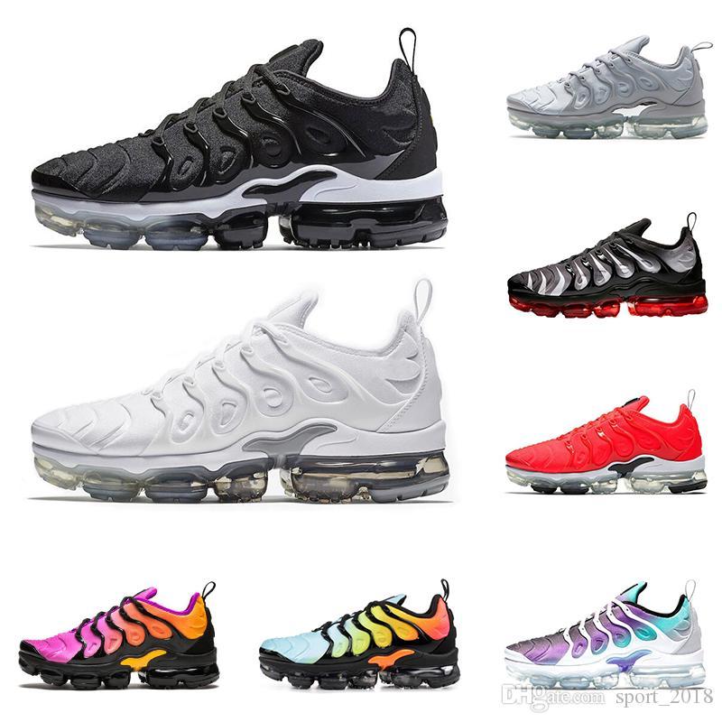 2019 Nike Air Vapormax Plus TN Plus Hombre Mujer Zapatos Para Correr Triple  Negro Blanco BETRUE Hyper Violet Grape Cool Gris Para Hombre Entrenadores  ...