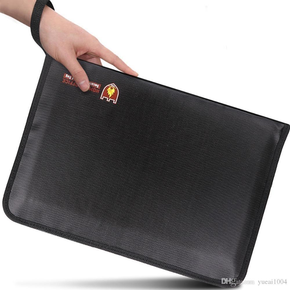 حقائب مضادة للحريق مجلد ملفات الأكورديون وثيقة 14.3x9.8 بوصة A4 حجم 12 جيوب غير حاك سيليكون المغلفة مقاومة للحريق الآمن