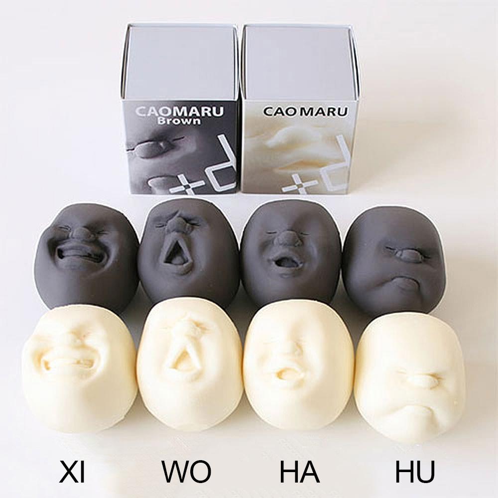 Squeeze Menschliches Gesicht Emotion Vent Ball-Stress abzubauen Erwachsener Dekompression spielt