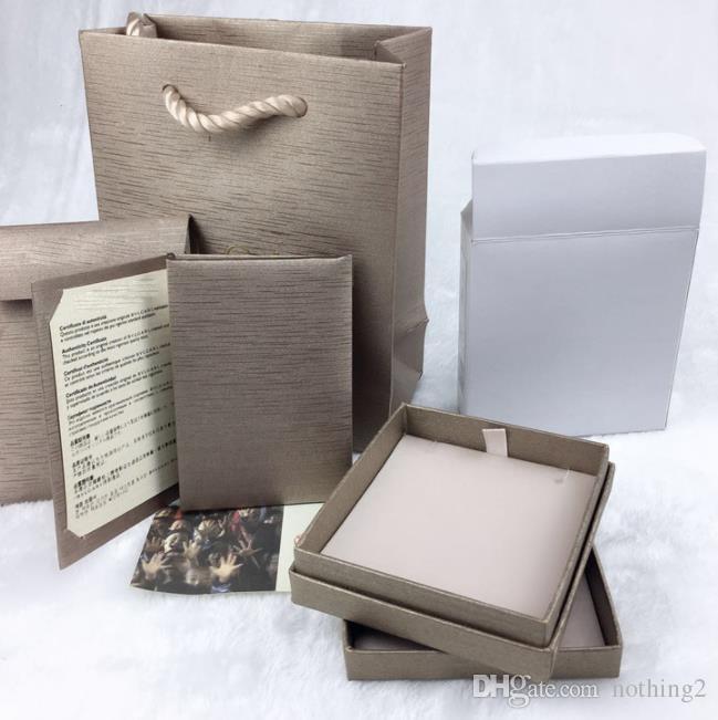 Traum Schmuck Original-Box-Ring Halsketten-Armband Schmuck-Set Box 5 Stück ist mit Frau Marke Gift Bag