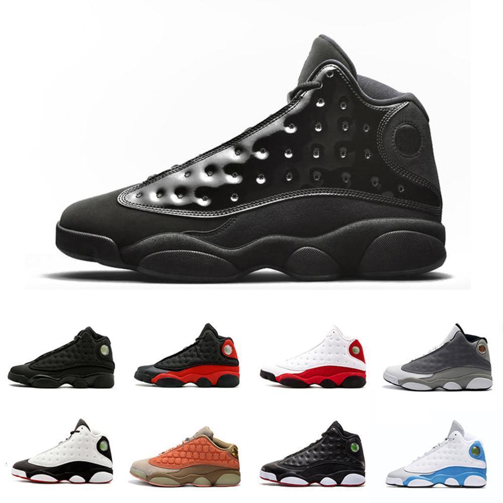 2019 Zapatos Lakers 13 13s Negro infrarrojos Gs Italia Blue baloncesto de los hombres del casquillo y un vestido gris Atmósfera 13s deportes para hombre zapatillas de deporte de atletismo