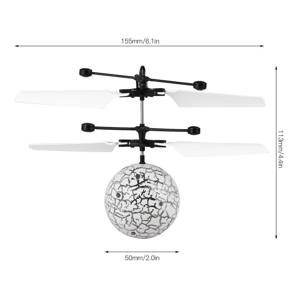 Cristallo Light Aircraft-up OCDAY volante luminoso sfere magiche Sensing gioca il regalo per i bambini LED Glowing Volo mini elicottero