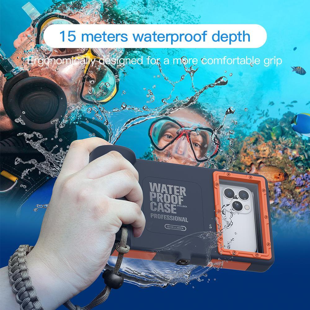 iPhone için profesyonel dalış Kılıf Samsung S8 S9 S10 Not 10 Evrensel için 11 Pro Max X XR XS Cases15 Metre Su geçirmez Derinlik Telefon Kapak