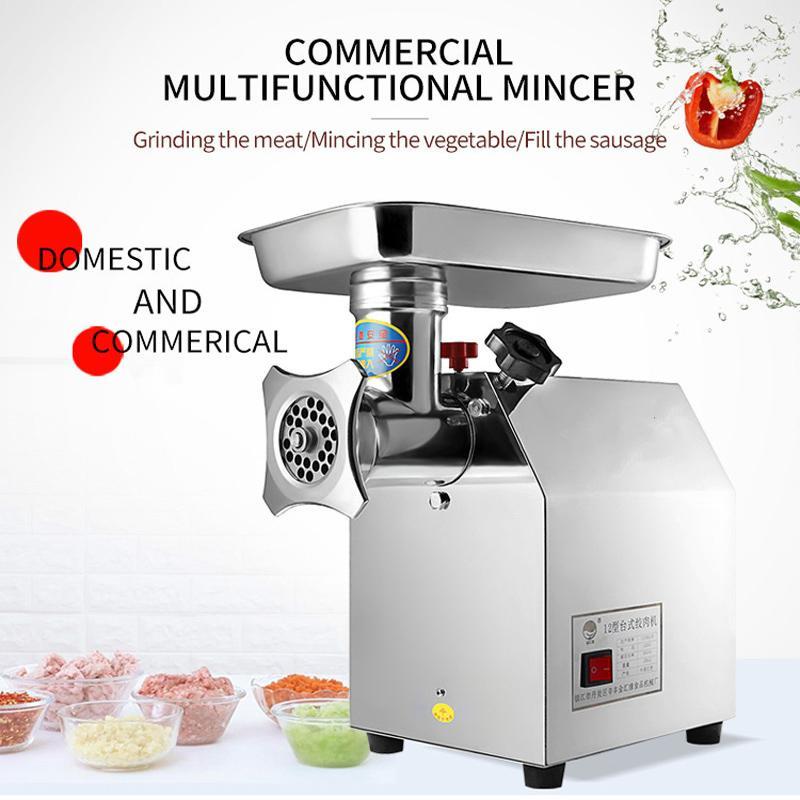 Small desktop 110V / 220V electric meat grinder household multi-function sausage stuffed meat mincer commercial mincer for sale