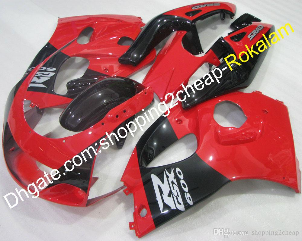 GSXR600 GSXR750 SRAD Fairings For Suzuki 1996 1997 1998 1999 GSX-R600 GSX-R750 96 97 98 99 Red Black Body Fairing Kit