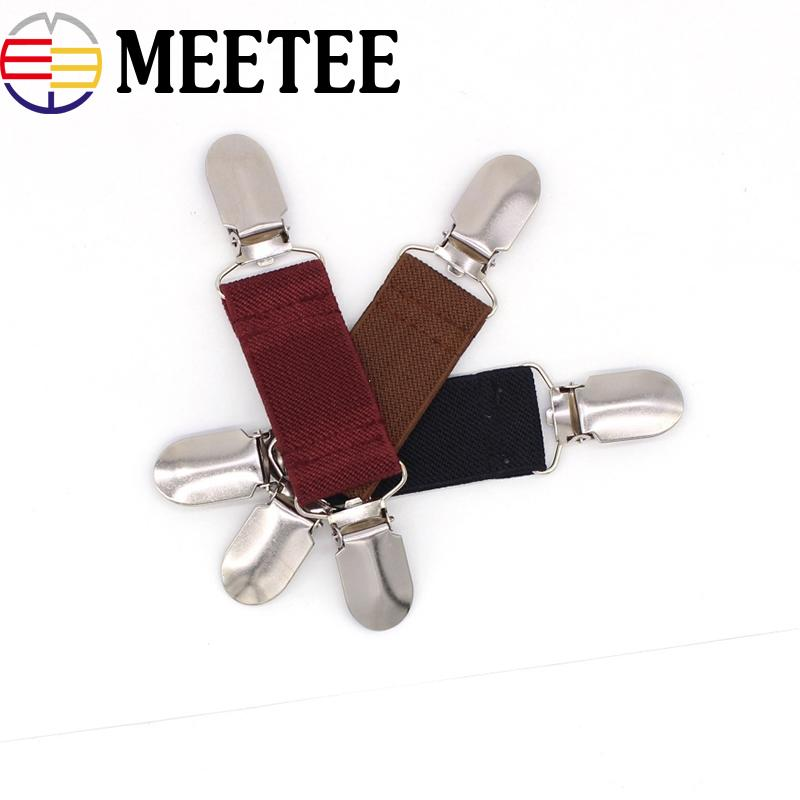 Meetee 13x2.5cm Women Men Shawl Shirt Collar Decorative Buckles Sweater Cardigan Clip Metal Buckles Winter Scarf Garment Hooks