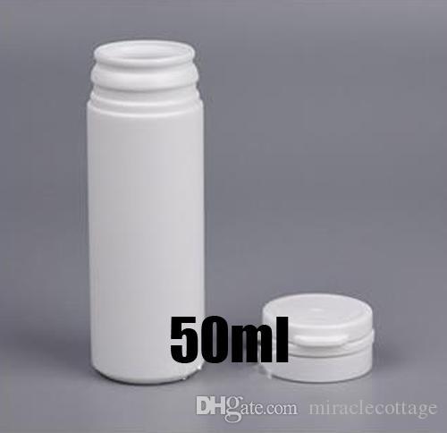 50pcs 50ml bianca rotonda PE Tearing Cap tubo, plastica bottiglia vuota di imballaggio, Candy Container, conservazione del campione